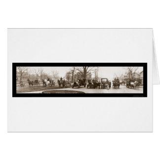 Middletownの消防署の写真1914年 カード