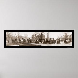 Middletownの消防署の写真1914年 ポスター
