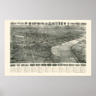 MiddletownのCTのパノラマ式の地図- 1915年 ポスター