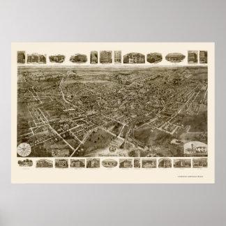 MiddletownのNYのパノラマ式の地図- 1921年 ポスター