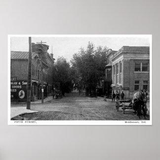 Middletown、インディアナ第5 St ポスター