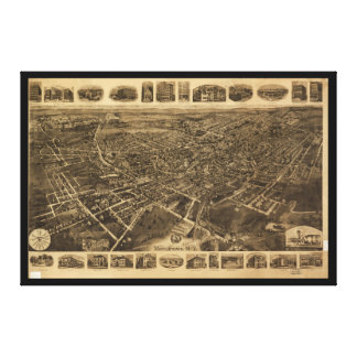 Middletown、ニューヨーク(1921年)の空中写真 キャンバスプリント