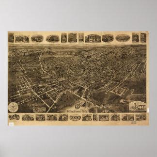 Middletown、ニューヨーク(1921年)の空中写真 ポスター