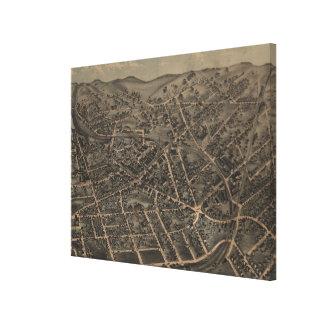 Middletown NY (1874年)のヴィンテージの絵解き地図 キャンバスプリント