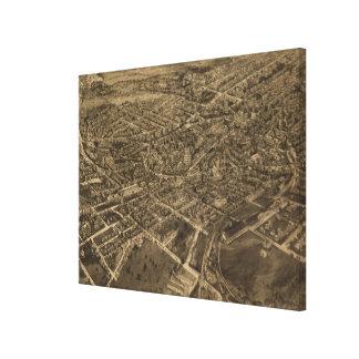 Middletown NY (1921年)のヴィンテージの絵解き地図 キャンバスプリント