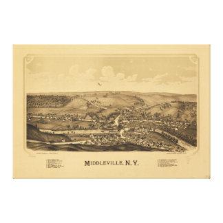 Middlevilleニューヨーク(1890年) キャンバスプリント