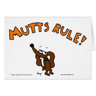 Midgeの雑種犬の規則の挨拶状 グリーティングカード