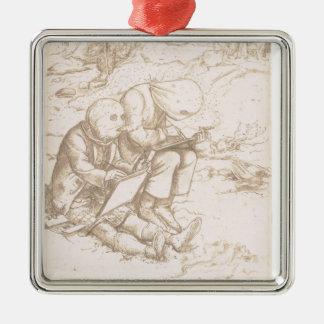 Midgesに対するひどい保護、1853年(ペン及び茶色 メタルオーナメント