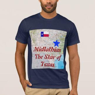 Midlothian: テキサスの星単独星の州 tシャツ