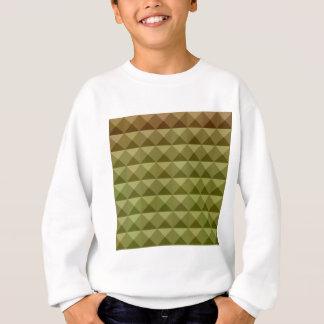 Mignonetteの緑の抽象芸術の低い多角形の背景 スウェットシャツ