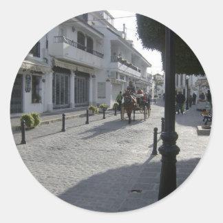 Mijasの村落、スペイン ラウンドシール