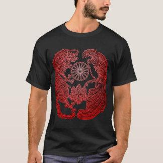Mikadoの紋章付き外衣-赤い日が差すこと Tシャツ