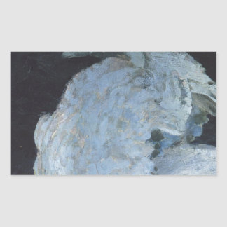 Mikhail Vrubel著白鳥 長方形シール