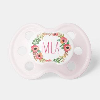"""""""Mila""""のシンプルで及びエレガントで名前入りな名前 おしゃぶり"""