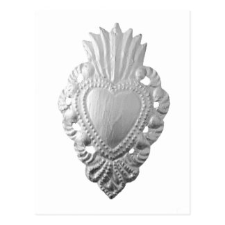 Milagroの銀製のハート ポストカード