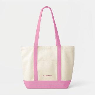 Mildredのためのピンク及び白いキャンバスのバッグ トートバッグ