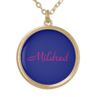 Mildredのジュエリー ゴールドプレートネックレス