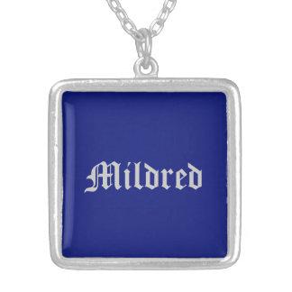 Mildredのジュエリー シルバープレートネックレス