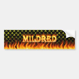 Mildredの実質火および炎のバンパーステッカーは設計します バンパーステッカー
