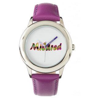 Mildredの紫色の腕時計 腕時計