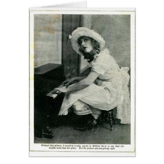 Mildredデービスの1921年のヴィンテージのポートレートカード カード