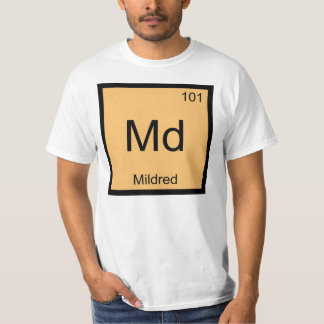 Mildred一流化学要素の周期表 Tシャツ