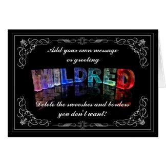 Mildred -示して下さいでライト挨拶状(写真) カード