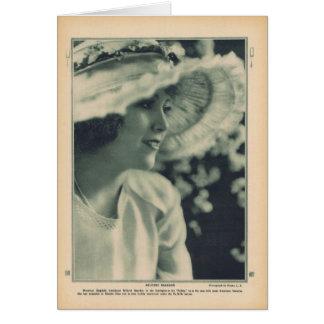 Mildred Reardonの1919年のヴィンテージのポートレートカード カード
