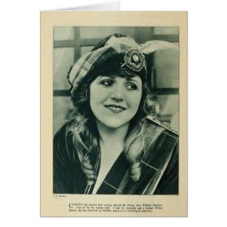 Mildred Reardonの1920年のヴィンテージのポートレートカード カード
