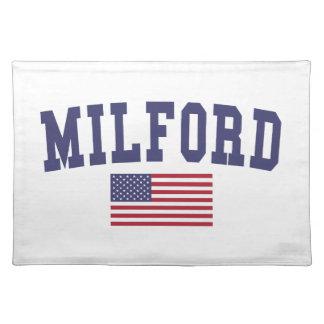 Milford米国の旗 ランチョンマット