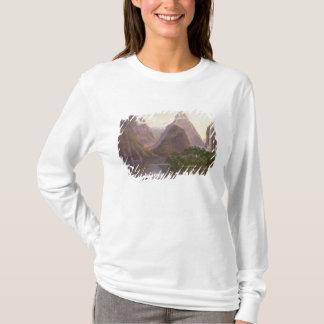 Milford Soundのカヌーの天然姿 Tシャツ