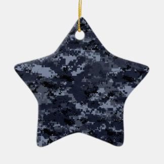 Miliatryの青いカムフラージュの磁器の星のオーナメント セラミックオーナメント