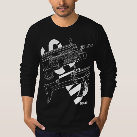 military t-shirts FN SCAR Assault Rifle Tシャツ