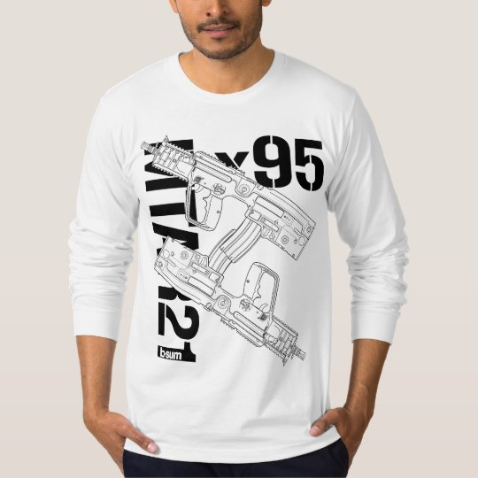 military t-shirts IWI X95 Rifle Tシャツ