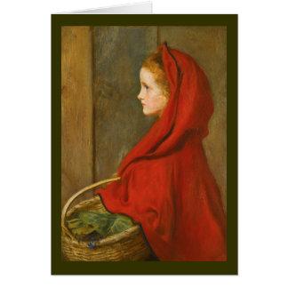 Millais著赤い乗馬フード カード