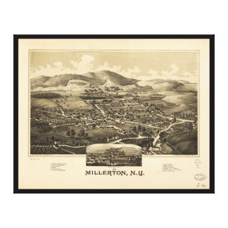 Millerton、ニューヨーク(1887年)の空中写真 キャンバスプリント