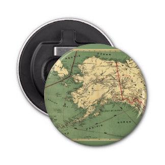 MillroyのアラスカおよびKlondykeの金ゴールドの地図 栓抜き