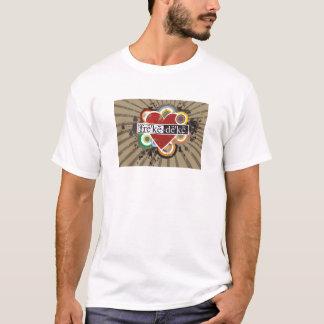 mimiハートの女性T Tシャツ