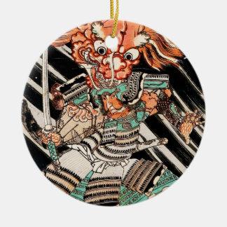 Minamoto Yorimitsu Kuniyoshi Utagawaの英雄の芸術 セラミックオーナメント