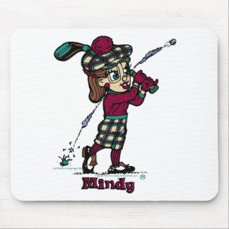 Mindyのゴルファー マウスパッド