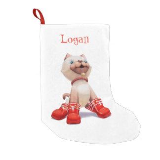 Mingの子ネコの名前入りなクリスマスのストッキング スモールクリスマスストッキング