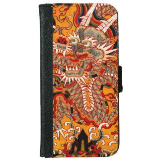 Mingの帝国中国のなドラゴンの写実的なiPhoneの財布 iPhone 6/6s ウォレットケース