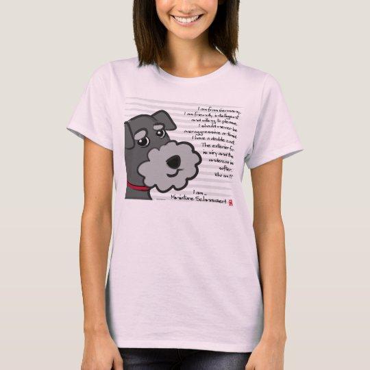 Miniature Schnauzer Tシャツ