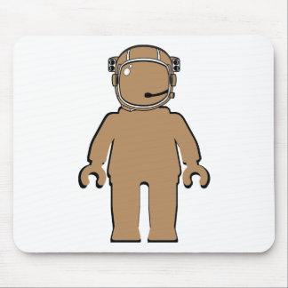 Minifig Banksyのスタイルの宇宙飛行士 マウスパッド