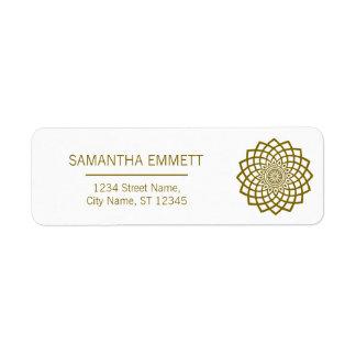 Minimalist Mandala Elegant Business Address Labels 返信用宛名ラベル