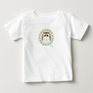 MiNiOwLブラウンのロゴのティー ベビーTシャツ