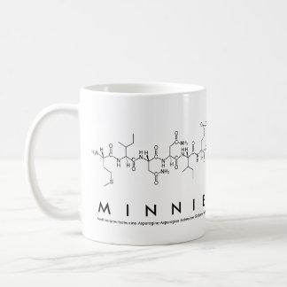 Minnieのペプチッド名前のマグ コーヒーマグカップ