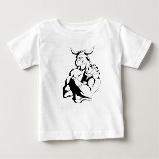 Minotaurのワイシャツの黒の輪郭 ベビーTシャツ