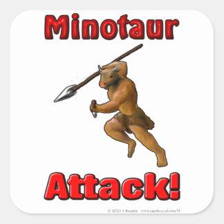 Minotaurの攻撃(スローガンと) スクエアシール