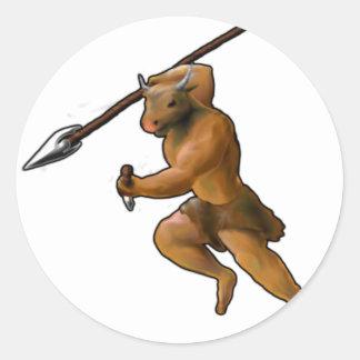 Minotaurの攻撃! (スローガン無し) ラウンドシール